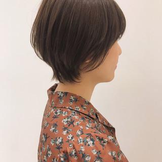 ショートボブ アンニュイほつれヘア ナチュラル ヘアアレンジ ヘアスタイルや髪型の写真・画像 ヘアスタイルや髪型の写真・画像