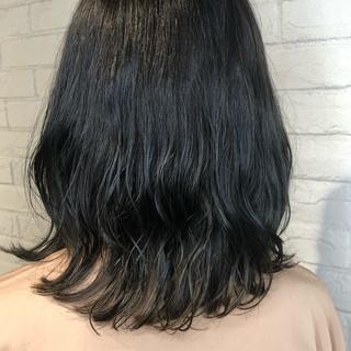 ヘアアレンジ ミディアム デート パーマ ヘアスタイルや髪型の写真・画像