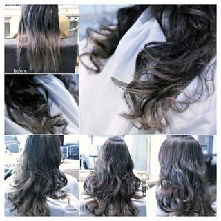 大人女子 グラデーションカラー こなれ感 ハイライト ヘアスタイルや髪型の写真・画像
