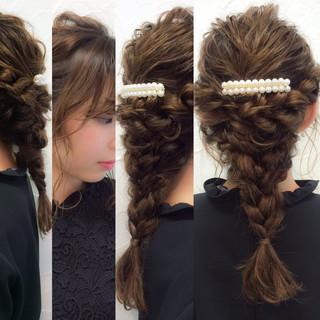 ラフ パーティ セミロング 大人かわいい ヘアスタイルや髪型の写真・画像