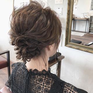 ヘアアレンジ 結婚式ヘアアレンジ ボブ フェミニン ヘアスタイルや髪型の写真・画像
