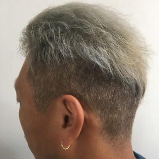 ショート ブリーチオンカラー ブリーチカラー ダブルブリーチ ヘアスタイルや髪型の写真・画像