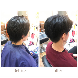 ツーブロック メンズカット 刈り上げ ナチュラル ヘアスタイルや髪型の写真・画像