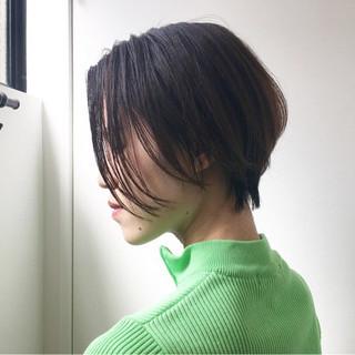 ナチュラル ベリーショート ショート ハンサム ヘアスタイルや髪型の写真・画像