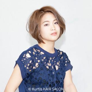 ゆるふわ ショート 簡単ヘアアレンジ デート ヘアスタイルや髪型の写真・画像