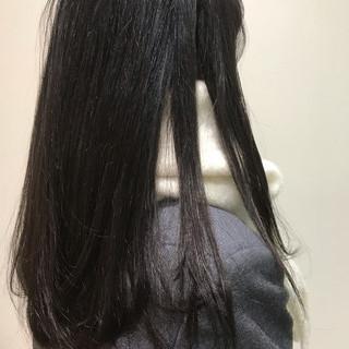 バイオレット アディクシーカラー ナチュラル ダークトーン ヘアスタイルや髪型の写真・画像
