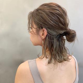 ミディアム スポーツ ヘアアレンジ デート ヘアスタイルや髪型の写真・画像