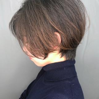 ナチュラル ショートボブ 大人かわいい アイロンワーク ヘアスタイルや髪型の写真・画像