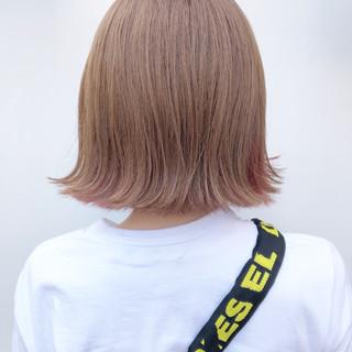 ミルクティーベージュ ミルクティーブラウン ガーリー ベリーピンク ヘアスタイルや髪型の写真・画像