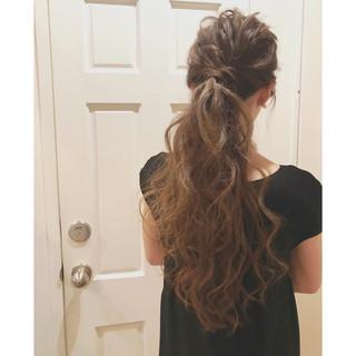 ロング ポニーテール 結婚式 ヘアアレンジ ヘアスタイルや髪型の写真・画像 ヘアスタイルや髪型の写真・画像
