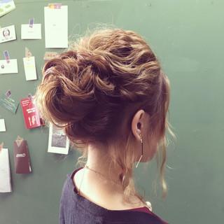 ヘアアレンジ ミディアム 編み込み まとめ髪 ヘアスタイルや髪型の写真・画像 ヘアスタイルや髪型の写真・画像