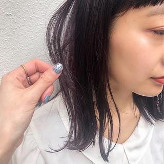 デート ガーリー 透明感 ミディアム ヘアスタイルや髪型の写真・画像