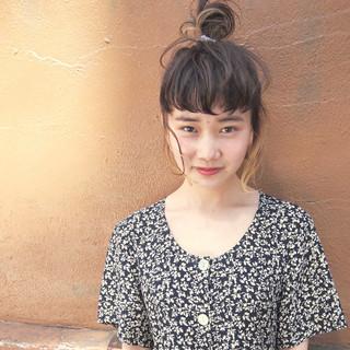 ナチュラル 簡単ヘアアレンジ ハイライト 大人かわいい ヘアスタイルや髪型の写真・画像