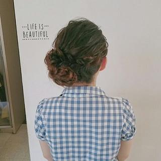 結婚式 セミロング ブライダル ヘアアレンジ ヘアスタイルや髪型の写真・画像