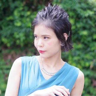 大人女子 涼しげ 簡単ヘアアレンジ 上品 ヘアスタイルや髪型の写真・画像