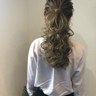 ロング フェミニン ヘアセット ブライダル ヘアスタイルや髪型の写真・画像