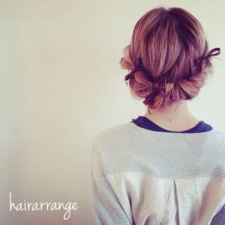 ゆるふわ ショート ヘアアレンジ 大人かわいい ヘアスタイルや髪型の写真・画像 ヘアスタイルや髪型の写真・画像