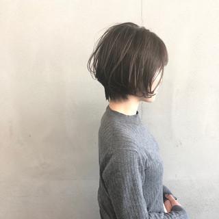 前下がりショート ショートヘア ハイライト ショート ヘアスタイルや髪型の写真・画像