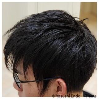 黒髪 ストリート 黒髪ショート メンズカット ヘアスタイルや髪型の写真・画像