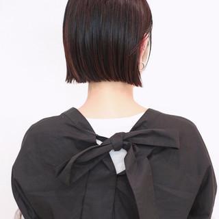 ショートボブ 切りっぱなしボブ ミニボブ ボブ ヘアスタイルや髪型の写真・画像