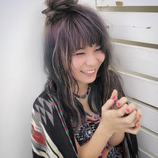 セミロング ヘアアレンジ 外国人風 波ウェーブ ヘアスタイルや髪型の写真・画像