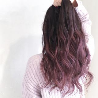 外国人風カラー ニュアンス フェミニン バレイヤージュ ヘアスタイルや髪型の写真・画像