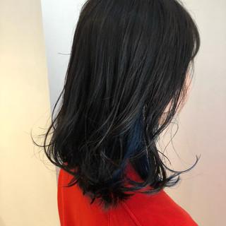 オルチャン 大人かわいい ナチュラル セミロング ヘアスタイルや髪型の写真・画像