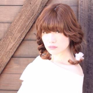 コンサバ ヘアアレンジ モテ髪 ミディアム ヘアスタイルや髪型の写真・画像
