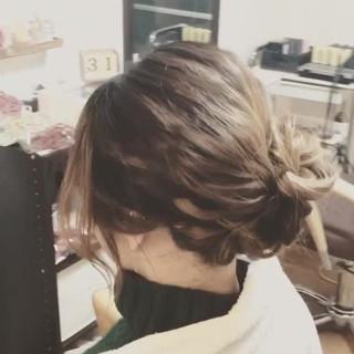 セミロング デート フェミニン 結婚式 ヘアスタイルや髪型の写真・画像