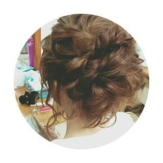 アップスタイル ロング ルーズ ヘアアレンジ ヘアスタイルや髪型の写真・画像