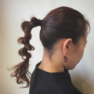 イルミナカラー 波ウェーブ 簡単 セミロング ヘアスタイルや髪型の写真・画像