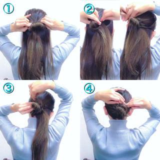 簡単ヘアアレンジ 上品 セルフヘアアレンジ ヘアアレンジ ヘアスタイルや髪型の写真・画像 ヘアスタイルや髪型の写真・画像
