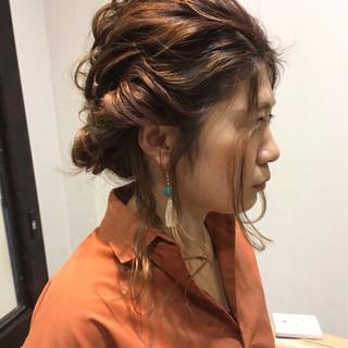 外国人風 ゆるふわ ハイライト ヘアアレンジ ヘアスタイルや髪型の写真・画像