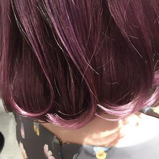 ピンクアッシュ ピンク ガーリー ベリーピンク ヘアスタイルや髪型の写真・画像