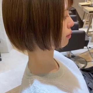 銀座美容室 ミニボブ ナチュラル 髪質改善カラー ヘアスタイルや髪型の写真・画像