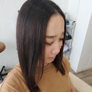 セミロング ナチュラル ストカール 縮毛矯正ストカール ヘアスタイルや髪型の写真・画像