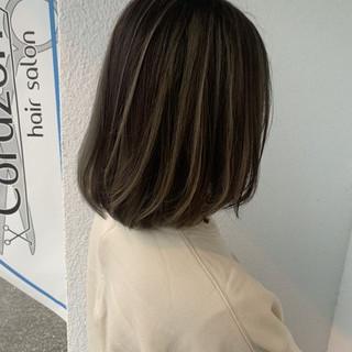 透明感カラー エレガント 圧倒的透明感 大人ハイライト ヘアスタイルや髪型の写真・画像
