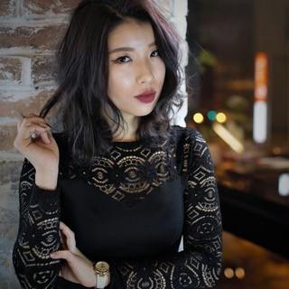 外国人風 ストリート ミディアム 黒髪 ヘアスタイルや髪型の写真・画像
