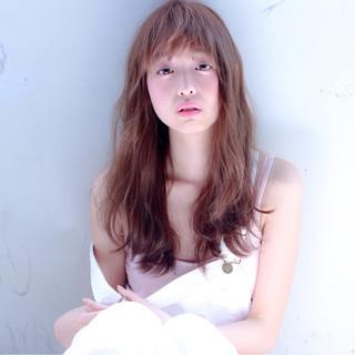 外国人風 かわいい ロング おフェロ ヘアスタイルや髪型の写真・画像