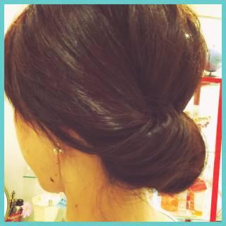 簡単ヘアアレンジ ギブソンタック ショート ミディアム ヘアスタイルや髪型の写真・画像 ヘアスタイルや髪型の写真・画像