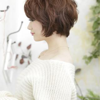 ゆるふわ 小顔 ガーリー ショート ヘアスタイルや髪型の写真・画像 ヘアスタイルや髪型の写真・画像