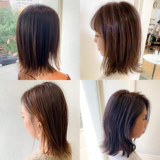 ショートボブ ミニボブ コントラストハイライト インナーカラー ヘアスタイルや髪型の写真・画像