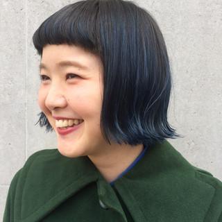 ショートバング 暗髪 ショート 個性的 ヘアスタイルや髪型の写真・画像
