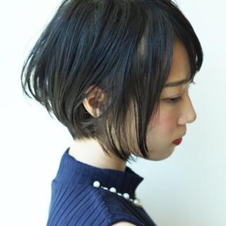 似合わせ ショートボブ ショート フェミニン ヘアスタイルや髪型の写真・画像 ヘアスタイルや髪型の写真・画像