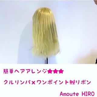 セミロング エレガント 簡単ヘアアレンジ ヘアアレンジ ヘアスタイルや髪型の写真・画像