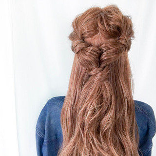 ヘアアレンジ 簡単ヘアアレンジ ロング アウトドア ヘアスタイルや髪型の写真・画像