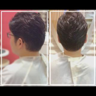 社会人の味方 白髪染め メンズヘア ナチュラル ヘアスタイルや髪型の写真・画像