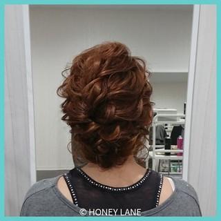 女子会 エレガント ミディアム イベント ヘアスタイルや髪型の写真・画像