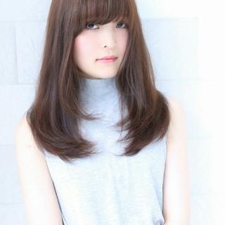 黒髪 アッシュ フェミニン 大人かわいい ヘアスタイルや髪型の写真・画像