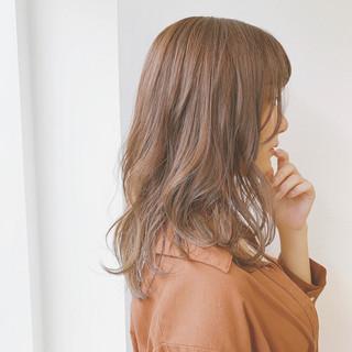 ブラウンベージュ 可愛い デート モテ髪 ヘアスタイルや髪型の写真・画像
